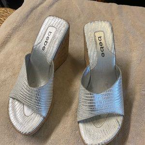Bebe platform shoes. Like new.